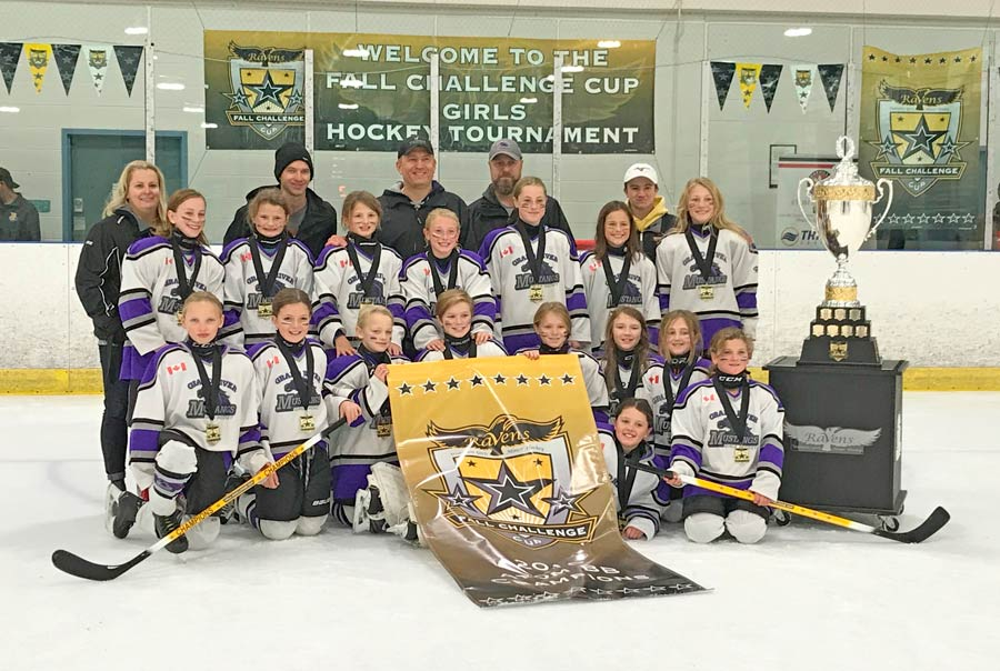 Grand River Mustangs Girls Atom BB earn gold medal at Waterloo Fall Challenge Hockey Tournament - Wellington Advertiser